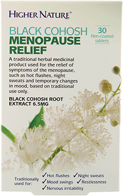 Higher Nature - <br>Black Cohosh Menopause Relief