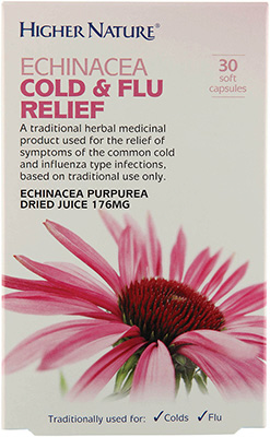 Higher Nature - <br>Echinacea Cold & Flu Relief