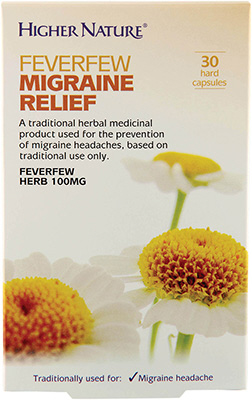 Higher Nature - <br>Feverfew Migraine Relief