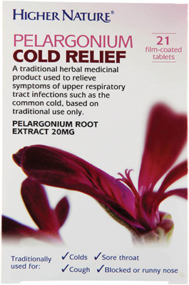 Higher Nature - <br>Pelargonium Cold Relief