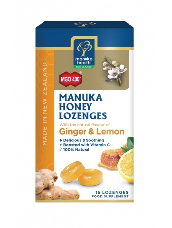 Manuka Health - <br>MGO™ 400+ Manuka Honey Lozenges with Ginger and Lemon