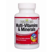 Natures Aid - <br>Multi-Vitamins & Minerals (with Iron)