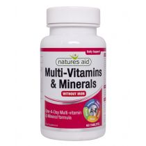 Natures Aid - <br>Multi-Vitamins & Minerals (without Iron)