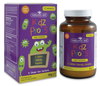 Natures Aid - <br>Kidz Pro-5 (5 Billion Bacteria)
