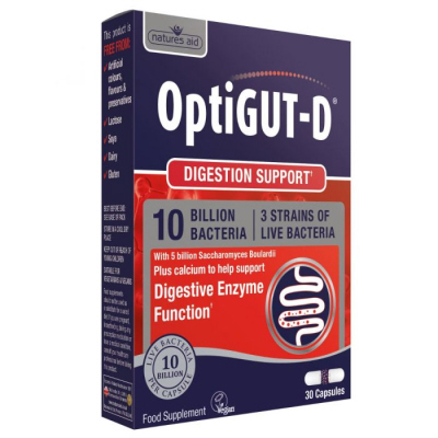 Natures Aid - <br>OptiGUT-D (10 Billion Bacteria)