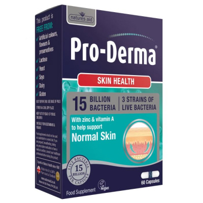 Natures Aid - <br>Pro-Derma (15 Billion Bacteria)