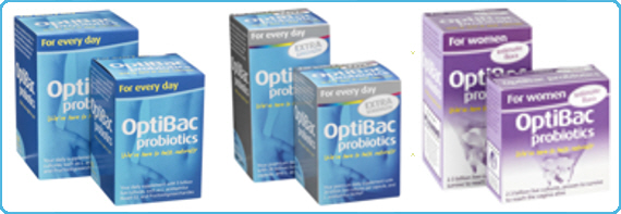 OptiBac Probiotics - One week flat, For every day & For women
